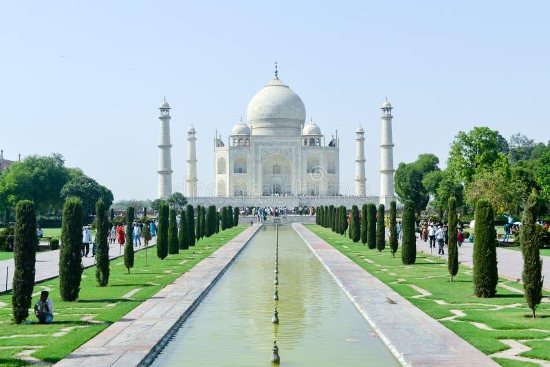 Agra, India, Jan 2019: Taj Mahal, zdjęcia stock