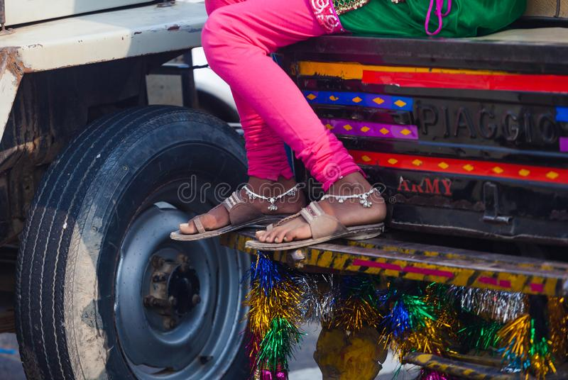 Legs of indian woman royalty free stock photos