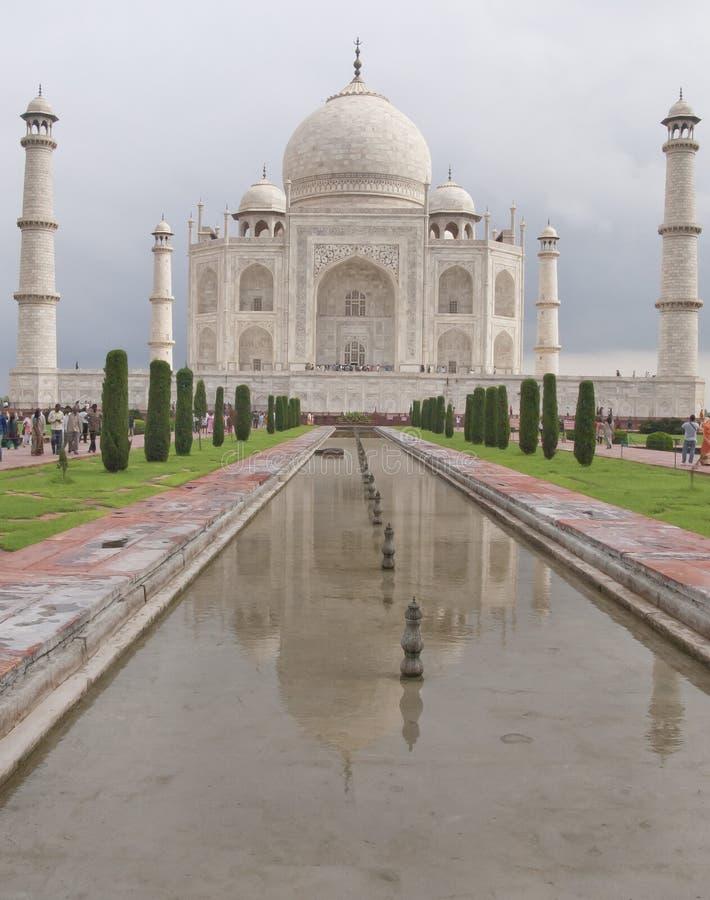 Agra, India. Taj Majal-mening. stock afbeeldingen