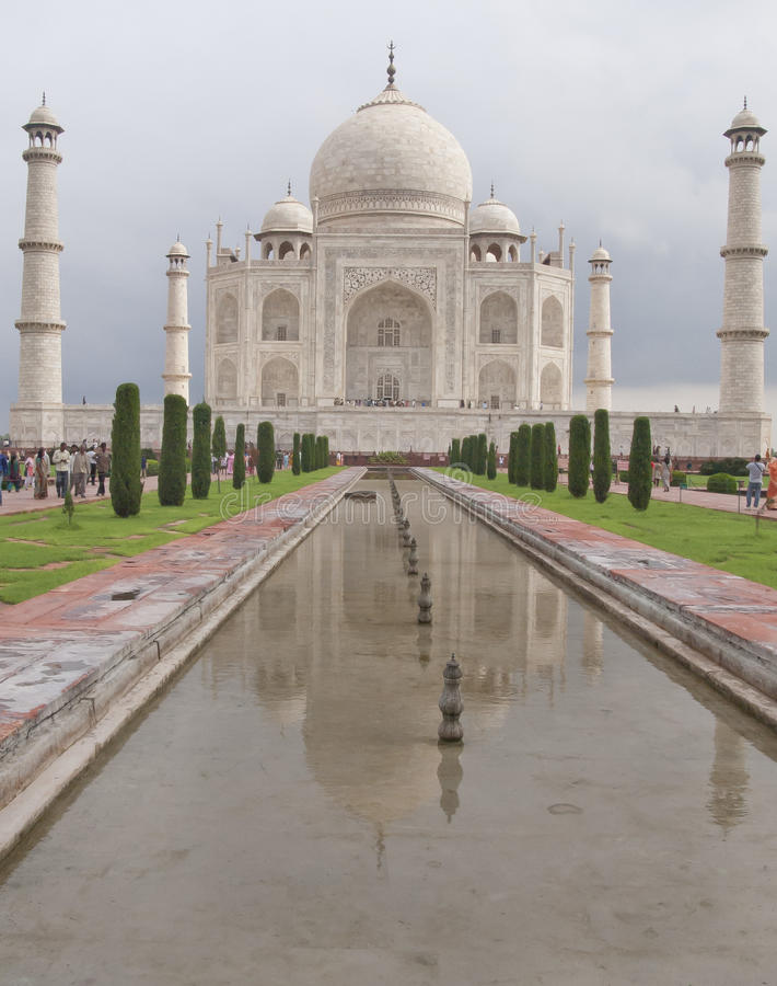 Agra Indien. Taj Majal sikt. arkivbilder