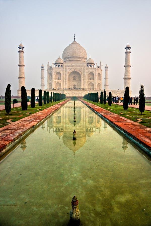 agra indu pradesh sunset taj mahal uttar fotografia royalty free