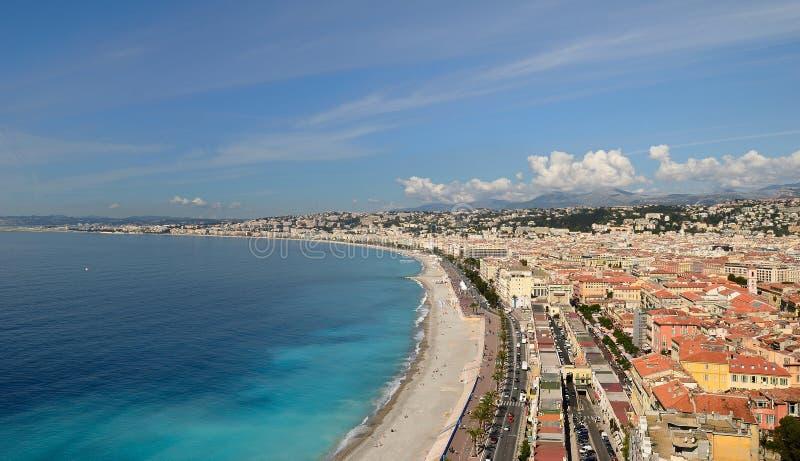 Agradável (França), Azure Coast fotografia de stock