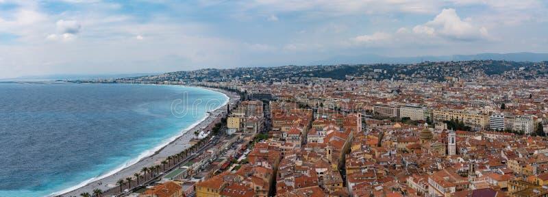 Agradável, França de cima de imagem de stock royalty free