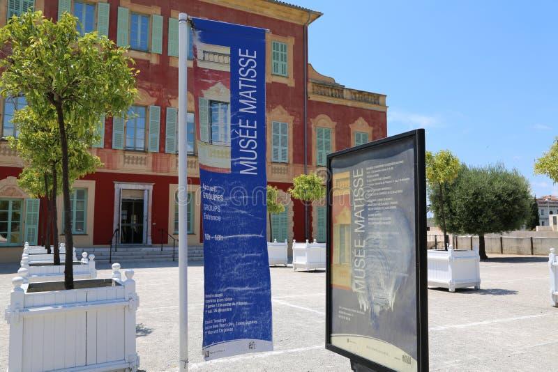 Agradável, França - 19 de junho de 2014: Musée Matisse foto de stock royalty free