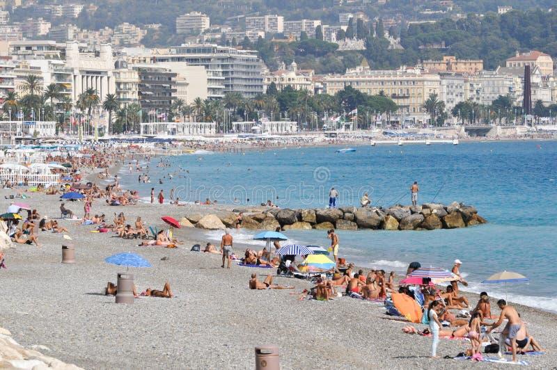 Agradável, litoral de Cote d'Azur fotos de stock royalty free