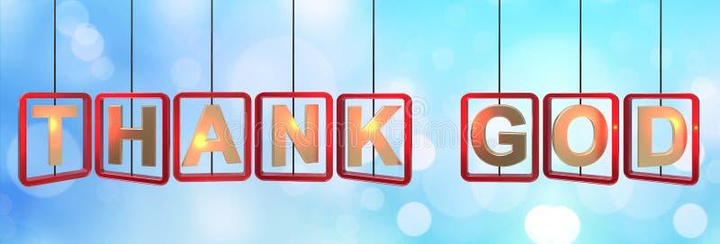 Agradezca el colgante de las letras de dios libre illustration