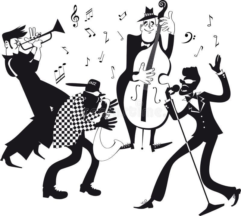 Agrafe-art de jazz-band illustration de vecteur