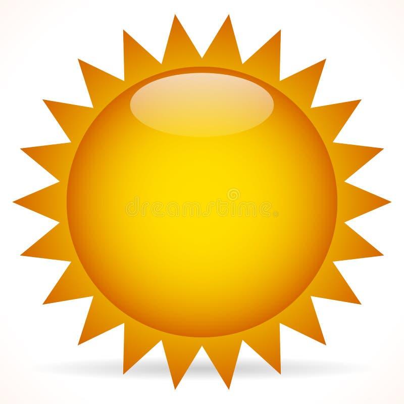 Agrafe-art de Sun illustration de vecteur