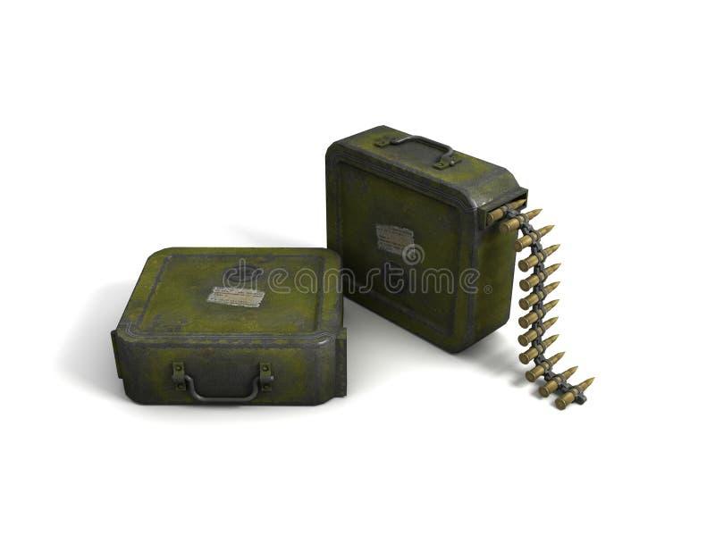 Agrafe de munitions illustration libre de droits