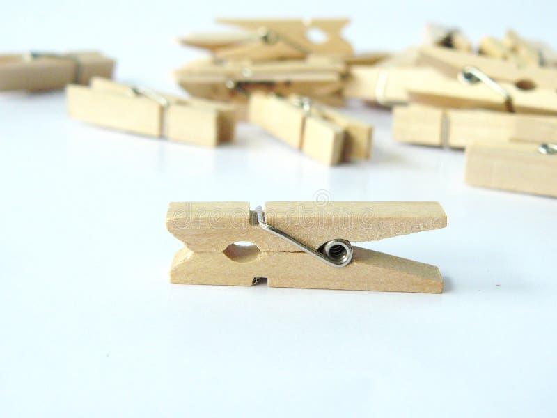 Agrafe en bois photo libre de droits