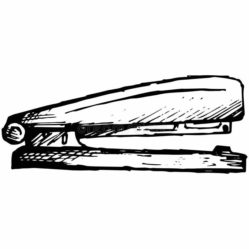 Agrafeuse en métal illustration stock