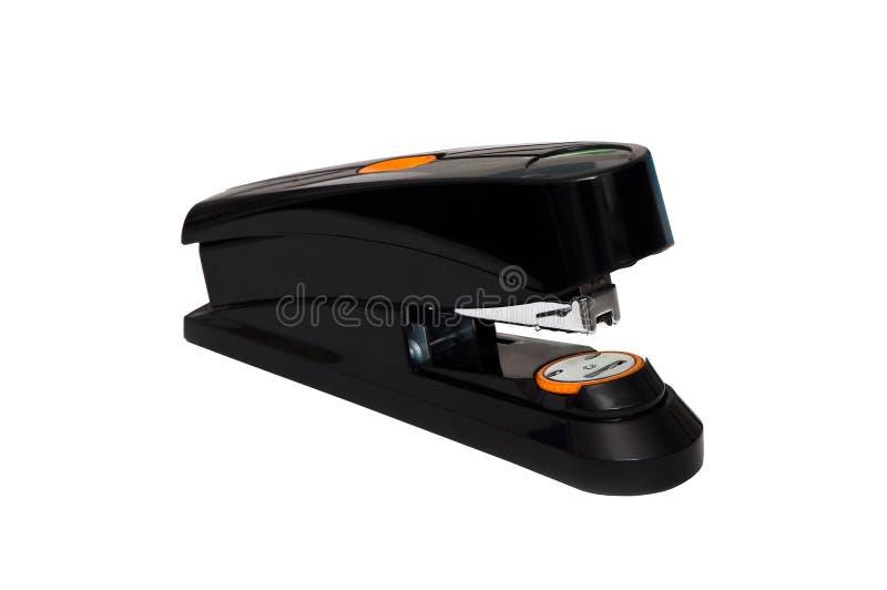 Agrafeuse puissante puissante noire et orange de bureau images stock