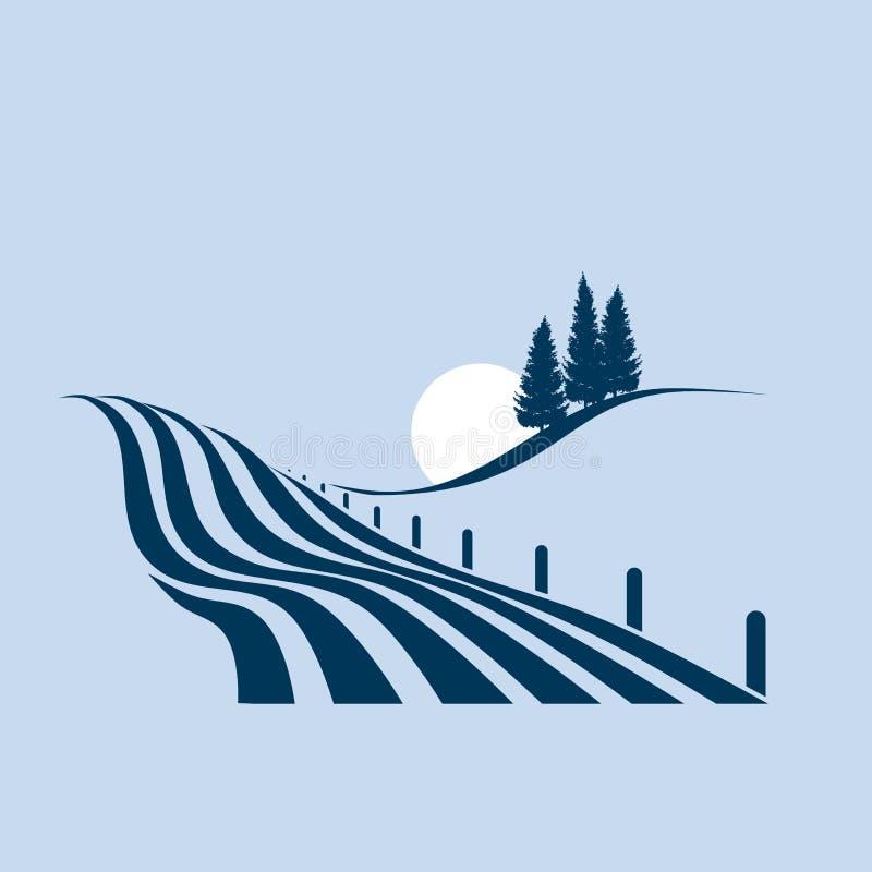 Agrarisch landschap royalty-vrije illustratie