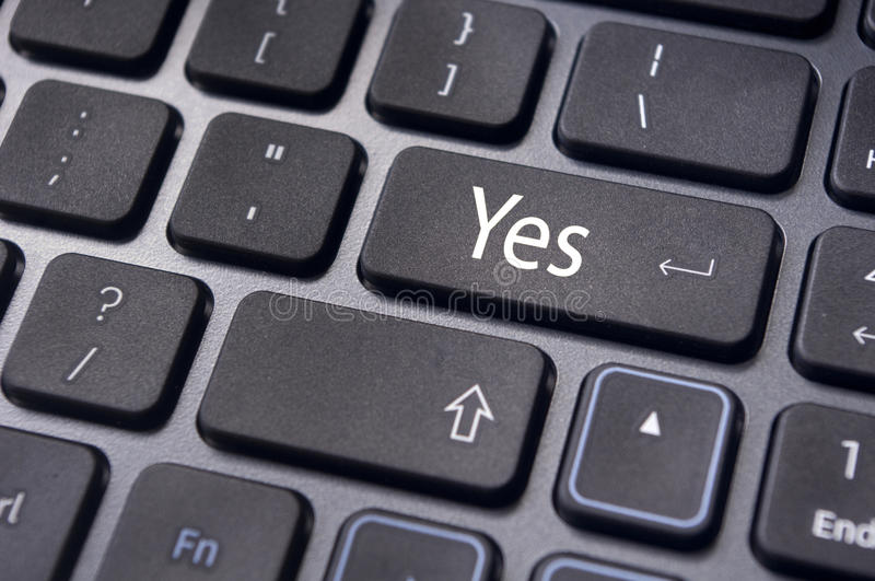 Download Agree Concepts, Yes On Keyboard Enter Key Stock Photo - Image: 22571218