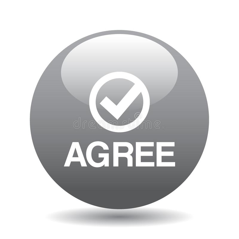 Agree / accept button vector illustration