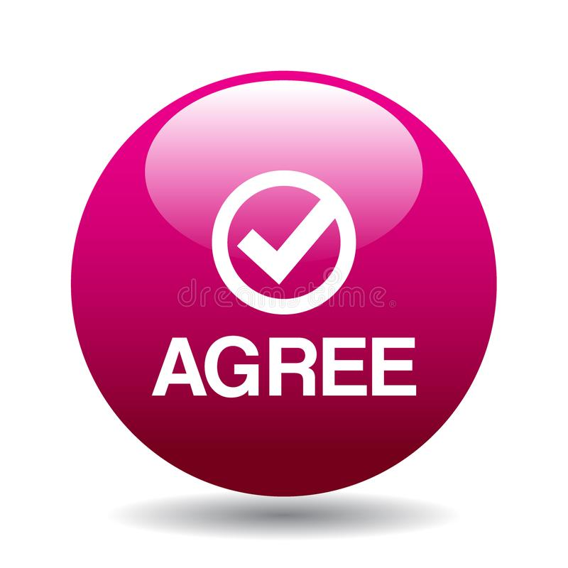 Agree / accept button royalty free illustration