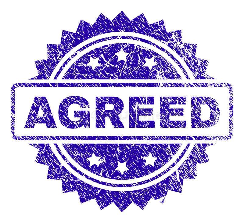 Grunge AGREED Stamp Seal stock illustration