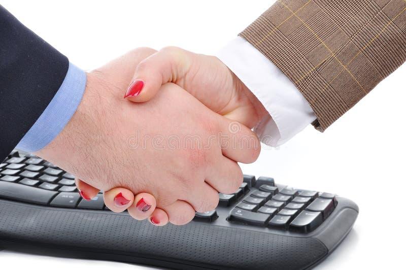 Agreemen zwischen Frau und Mann lizenzfreies stockfoto