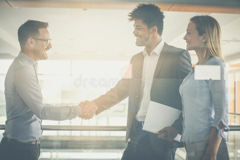 Agreement is concluded. Successful business people royalty free stock photography