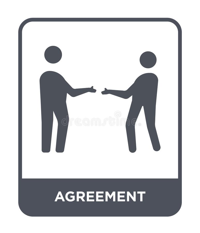 Agreement icon in trendy design style. agreement icon isolated on white background. agreement vector icon simple and modern flat. Symbol for web site, mobile stock illustration
