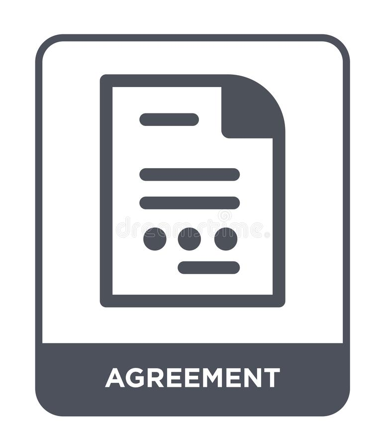 Agreement icon in trendy design style. agreement icon isolated on white background. agreement vector icon simple and modern flat. Symbol for web site, mobile vector illustration