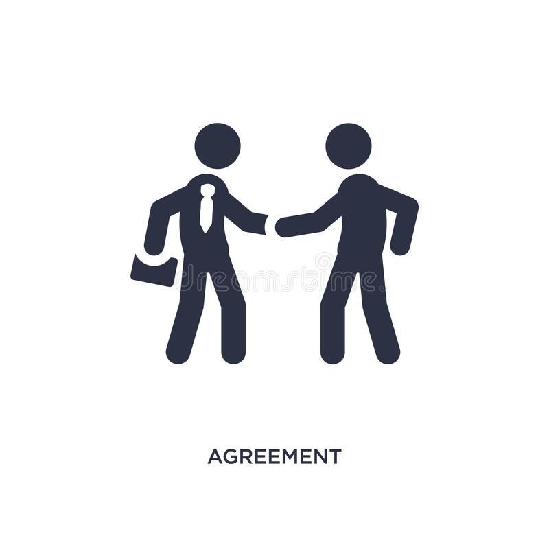 Agreement icon on white background. Simple element illustration from strategy concept. Agreement isolated icon. Simple element illustration from strategy concept vector illustration