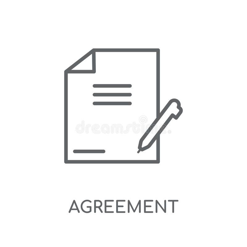 Agreement linear icon. Modern outline Agreement logo concept on. White background from law and justice collection. Suitable for use on web apps, mobile apps and vector illustration