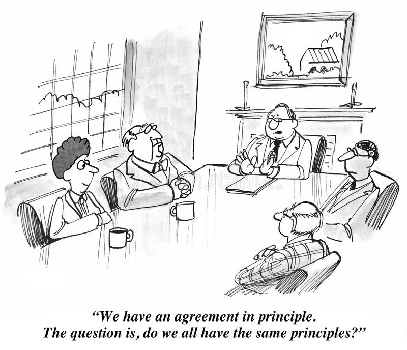 Agreement In Principle Stock Illustration Illustration Of
