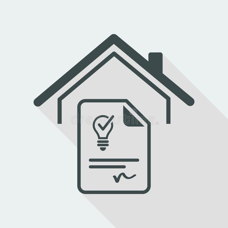 Agreement for the supply of electricity - Vector web icon royalty free illustration