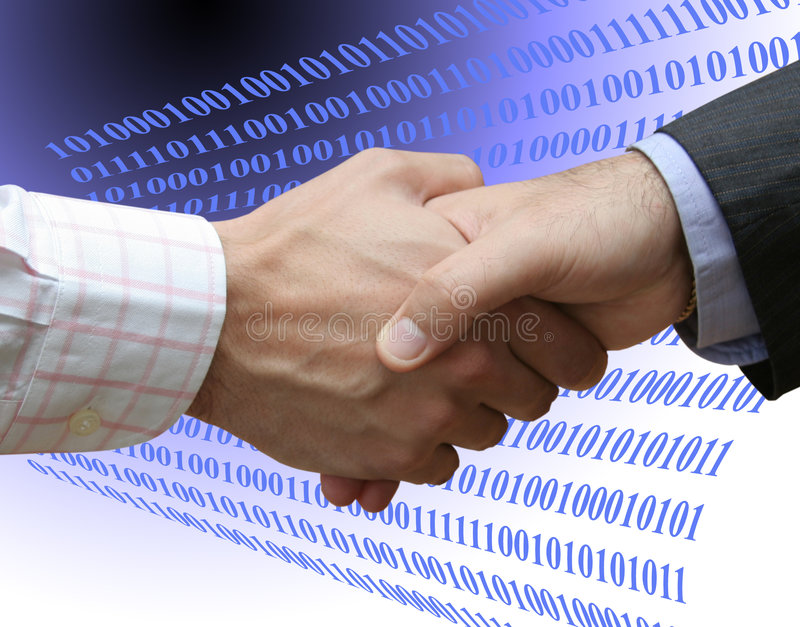 Agreement with technology stock images