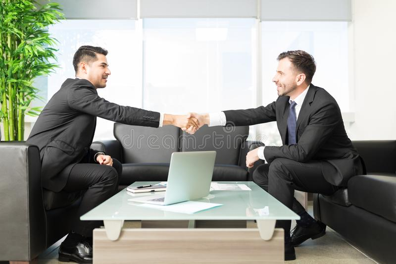 Agreement To Expand Company`s Accomplishment royalty free stock photos