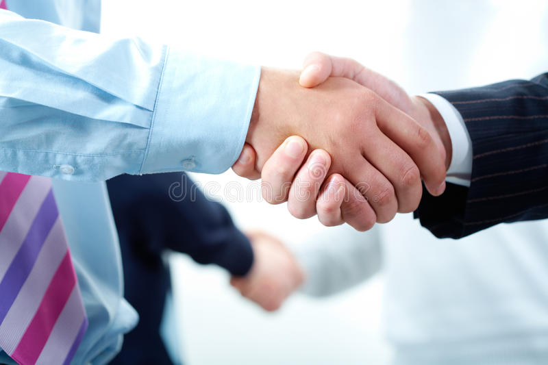 Agreements. Image of business people�s hands making the agreements stock photo