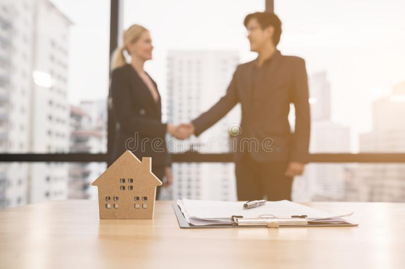 Agreements between business women and Asian partners, Business concepts and signing contracts.  royalty free stock photo