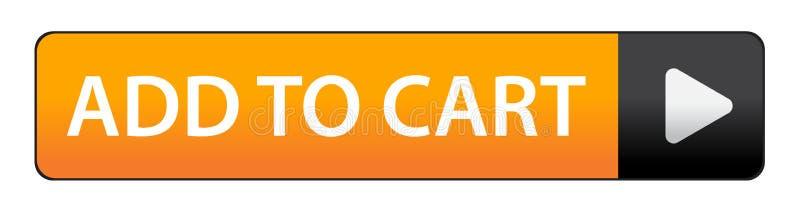 Agregue al botón del carro stock de ilustración