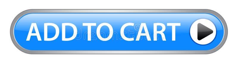 Agregue al botón del carro ilustración del vector