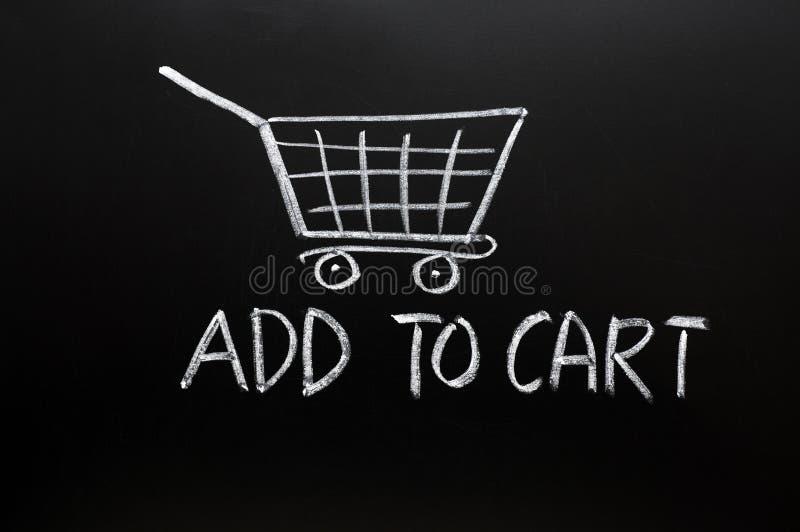 Agregue al carro imagen de archivo libre de regalías