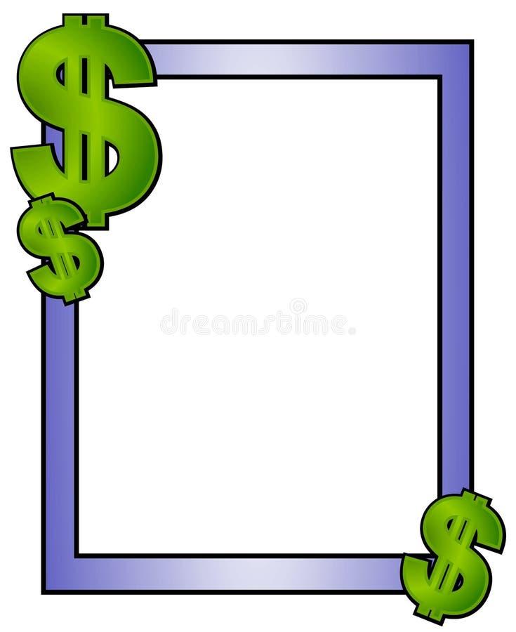 Agregue el papel de las finanzas del dinero del texto ilustración del vector