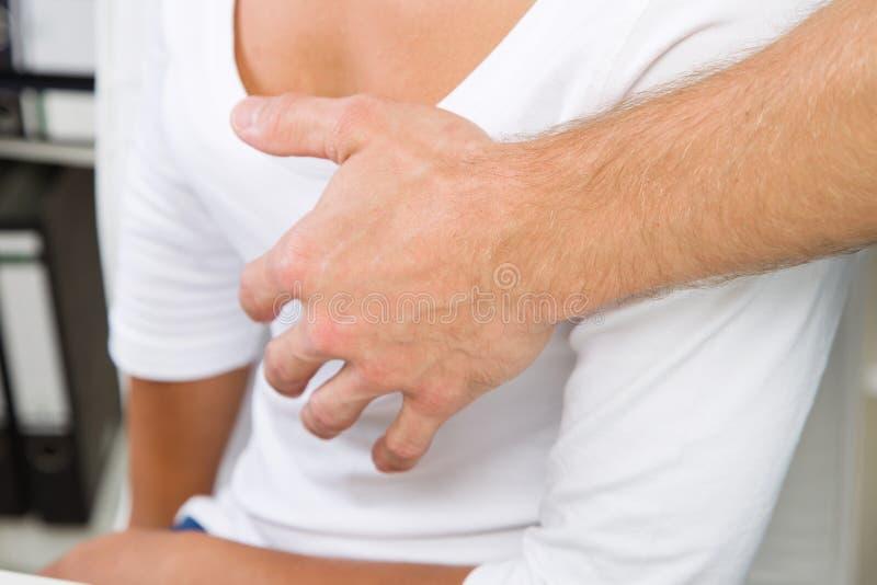 Agressão sexual no local de trabalho imagens de stock royalty free