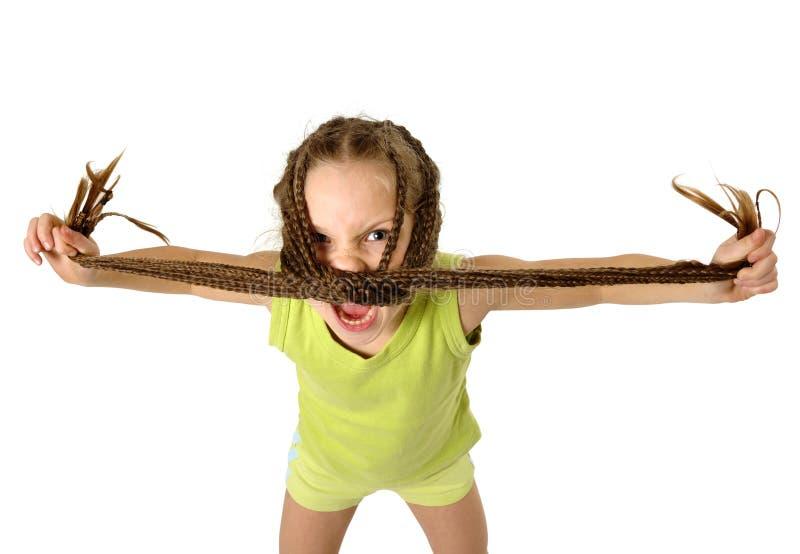 Agressief meisje royalty-vrije stock foto