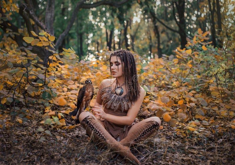 Agressief-seksueel wild meisje royalty-vrije stock fotografie