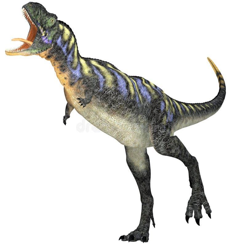 Agressieve Aucasaurus-Dinosaurus stock illustratie