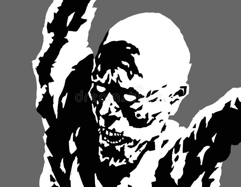 Agression furieuse de monstre Illustration de vecteur illustration libre de droits
