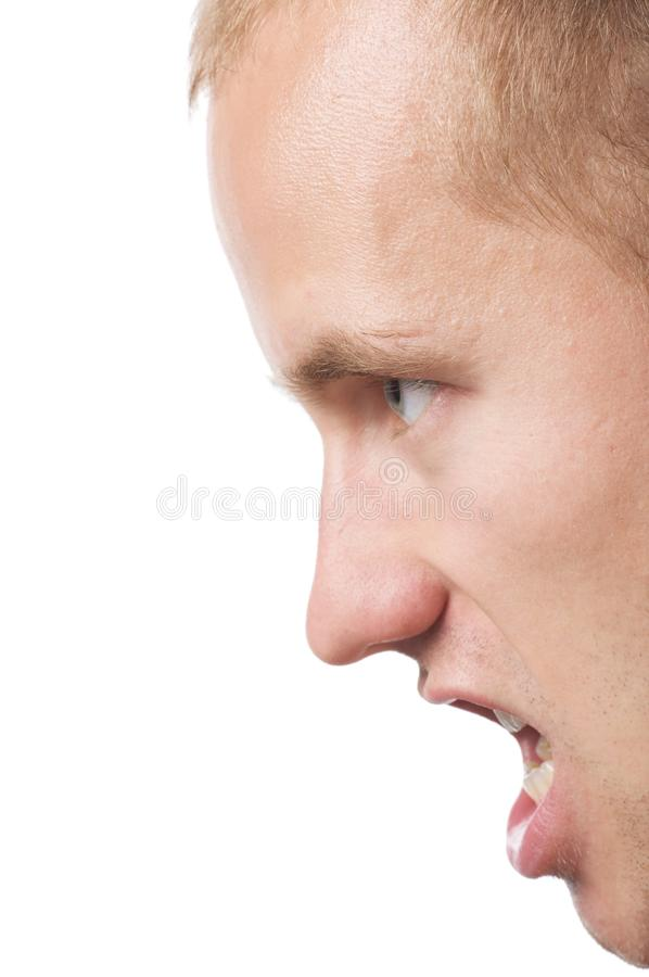 Agressivey men royalty free stock image