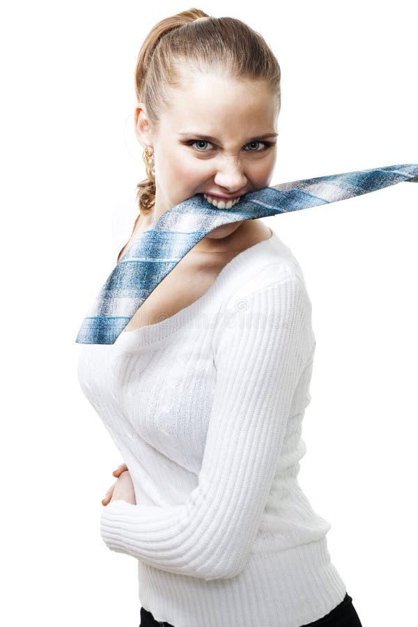 agresywna biznesowa kobieta obrazy stock