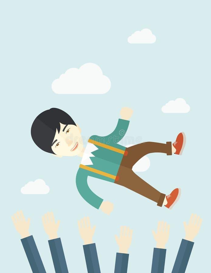 Agresywny japoński biznesmen ilustracja wektor