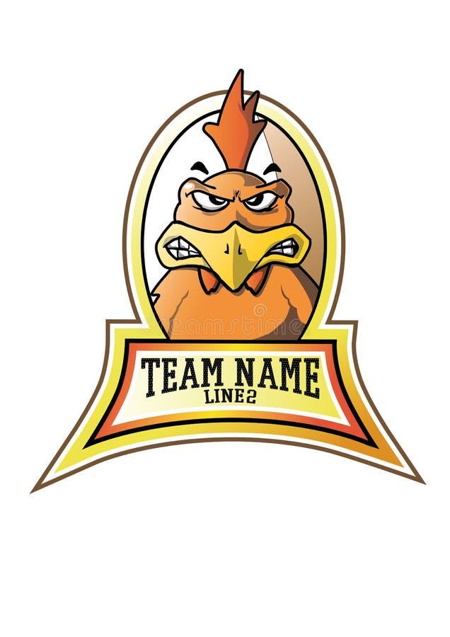 Agresywny kurczaka wojownik royalty ilustracja