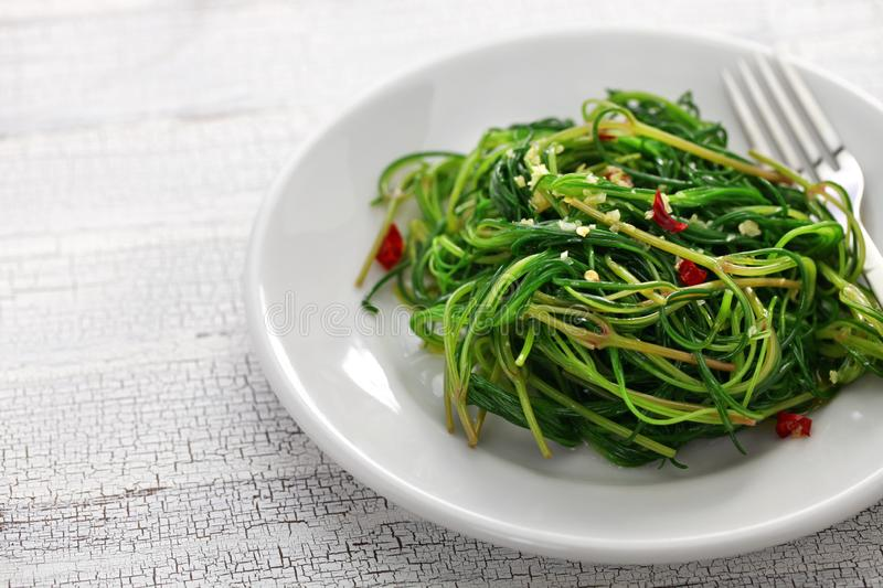 Agretti sauté photo stock