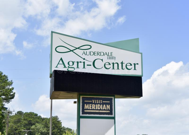 Agri-centro de Lauderdale, Mississippi meridiano fotografia de stock