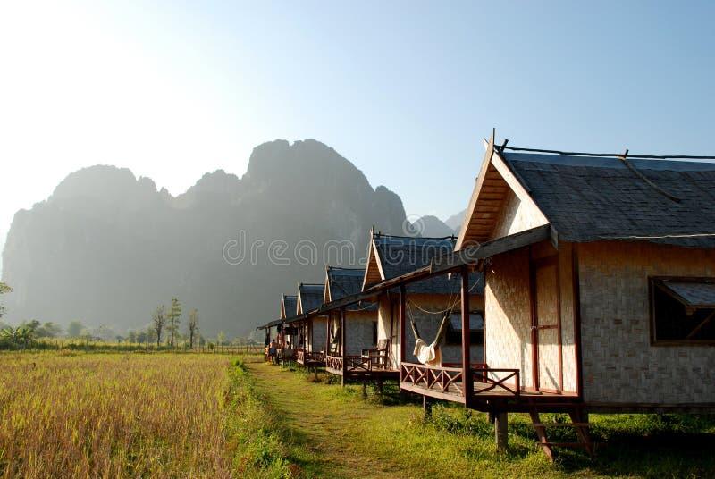 Agricoltore House nel Laos immagini stock libere da diritti