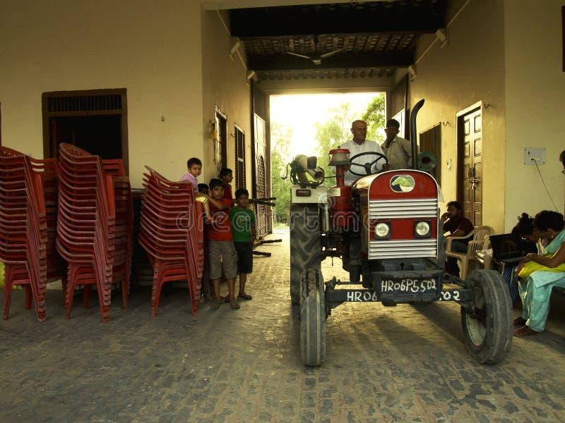 Agricoltore indiano fiero fotografia stock